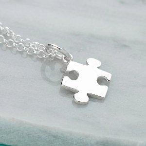 Lily charmed拼图项链