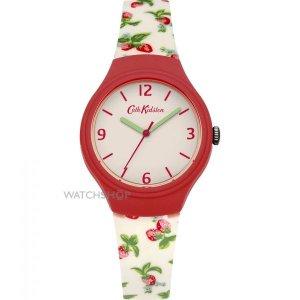 Ladies' Cath Kidston Strawberries Silicone Strap Watch