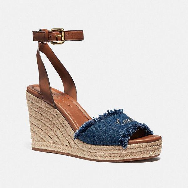 Kelley 牛仔布坡跟凉鞋