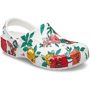 CrocsBaya 花卉洞洞鞋