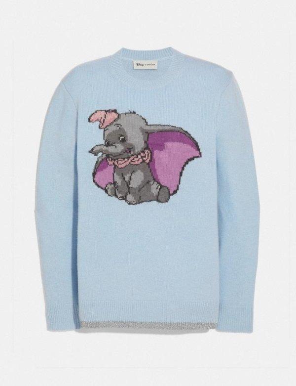 关晓彤同款 Disney X Coach Dumbo小飞象毛衣