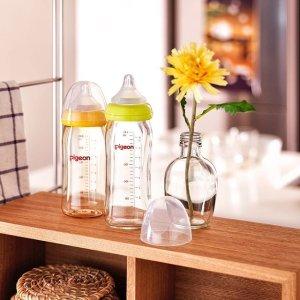 直邮含税到手价约$35Pigeon 贝亲 自然实感耐热玻璃奶瓶 240ml