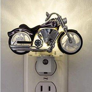 GE 炫酷摩托造型 LED 小夜灯,天黑自动亮