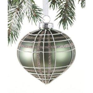 Christmas Ornament Onion Light Green