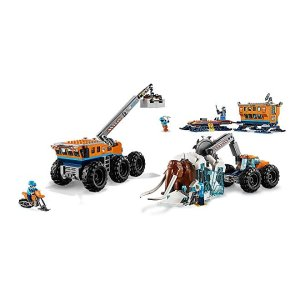 Amazon LEGO City Arctic Mobile Exploration Base 60195 Building Kit, Snowmobile Toy and Rescue Game (786 Pieces)
