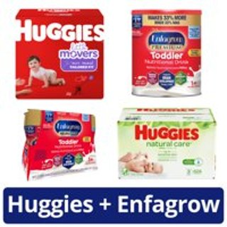 Save $10 or FreebiesHuggies + Enfagrow Savings and Deals