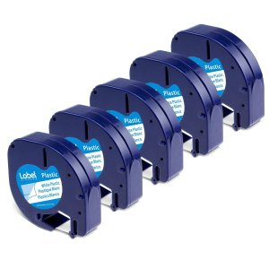 Label KINGDOM Compatible Labels Replacement for DYMO LetraTag Refills, 5-Pack