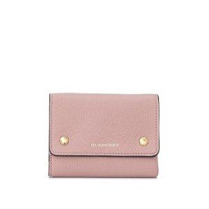 Burberry粉色小钱包