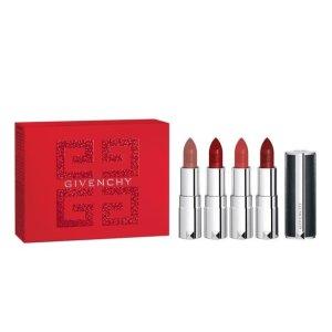 7折 不到€35收4支Givenchy 爆款小羊皮口红Mini套装 热门色号收割机