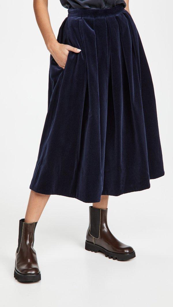丝绒半身裙