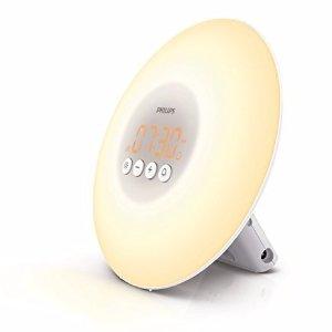 $39.99 Philips Wake-Up Light with Sunrise Simulation, White, HF3500