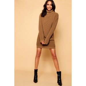 BoohooRoll Neck Sweater Dress