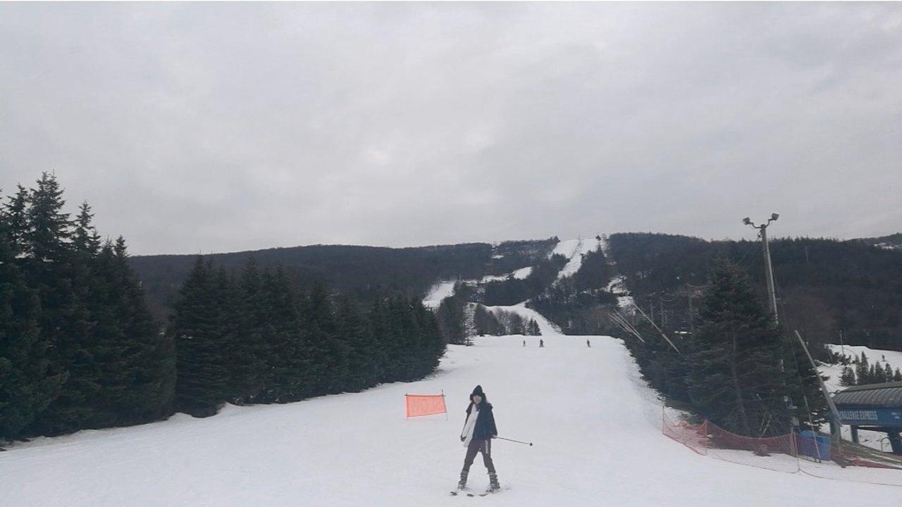 #冬日出游计划#走,跟我一起去滑雪!