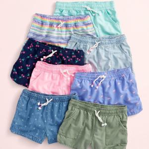 $6-$10+包邮  Fun Cash使用最后一天最后一天:OshKosh BGosh 儿童短裤上新 收女童防走光裙裤