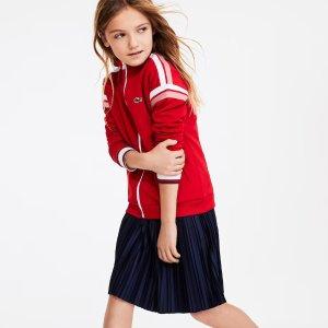 低至7折 $19.19起Lacoste 儿童服饰特卖 亲子装穿起来