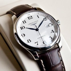 $1499LONGINES Master Collection Silver Dial Brown Alligator Leather Automatic Men's Watch No. L28934783