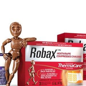 $7.86(原价$11.48) 3片装 刘涛力荐史低价:Robax HeatWraps 后腰部&髋部发热止痛贴 还可以暖肚子