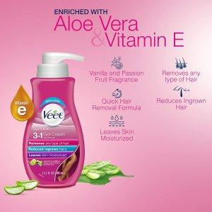 $14.22(原价$17.97)Veet 薇婷3合1脱毛膏 含芦荟、维E 敏感肌适用 实惠好用