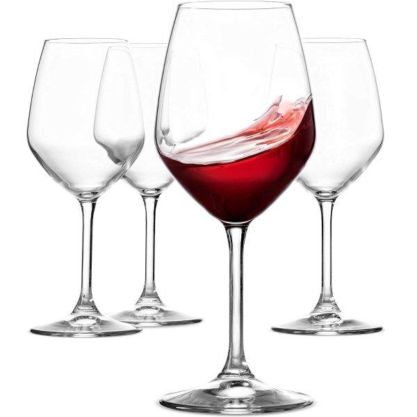 Paksh Novelty 意大利红酒杯4只装 18oz