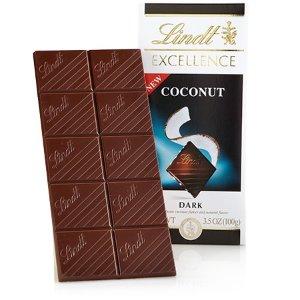 买3送1 或 买5送2椰子黑巧克力板