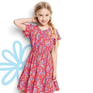 $3.99起+双倍积分 再上夏秋新款上新:OshKosh BGosh 女婴女童裙和连体服低至4折+额外8折
