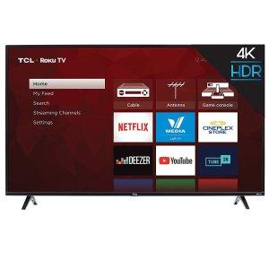 $399.99 (原价$549.99)史低价:TCL 55S425-CA 55英寸4K超高清智能电视(2019版)