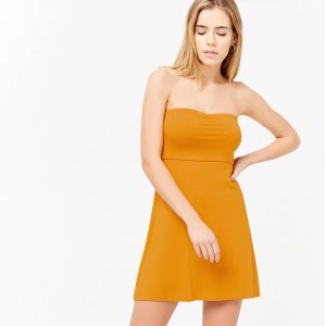 Forever21Strapless Fit & Flare Dress