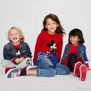 低至5折 米妮小手套$16Gap X Mickey Mouse 和宝宝分享童趣时刻 连脚袜$10