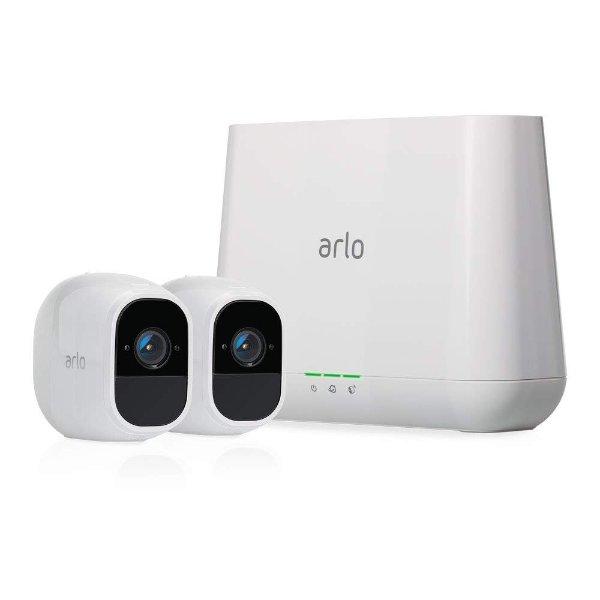 Arlo Pro 2 家庭安全监控系统 (2 1080P摄像头+1中控)