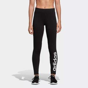 Adidas黑色logo打底裤