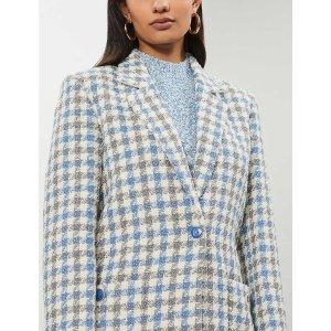 SandroHoundstooth-patterned tweed blazer