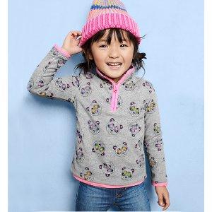 Oshkosh熊猫图案小童抓绒上衣