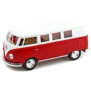 """Amazon.com: Set of 4: 5"""" Classic 1962 Volkswagen Van 1:32 Scale (Green/Maroon/Red/Yellow): Toys & Games"""