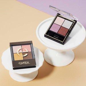 8.5折 4色眼影$19Excel 彩妆热卖 性价比最高的万用日妆