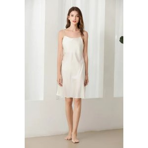 Ecru Emissaryget $25 back with $288Lykke Home   19 Momme Mulberry Silk Dreaming Dress