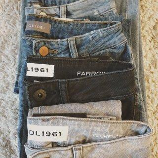 穿牛仔裤的女孩儿呀你潇洒时尚又可爱   DL1961牛仔裤