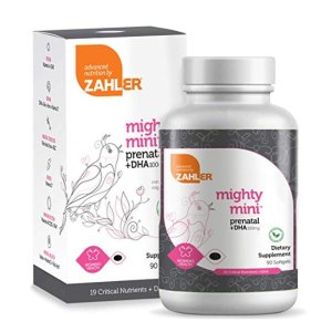40% Off + $5 couponAmazon Zahler Mighty Mini Prenatal DHA, 90 Softgels, 3 month supply (90 days pack)