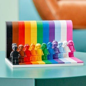 售价€34.99 彩虹飘扬LEGO 40516 每一个人都很赞哟!多元化的世界