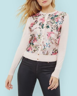 Blossom Jacquard cardigan - Pink | Sweaters | Ted Baker