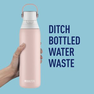 $41.15(Walmart $68.62)Brita 新型滤水瓶 20盎司 随时随地喝到健康水 送滤芯