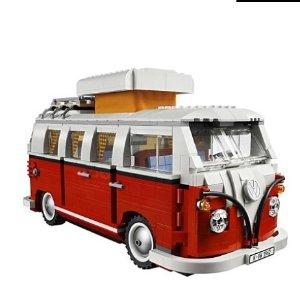$127 (原价$169)1334片碎片组成LEGO乐高 1962年经典款大众T1露营车