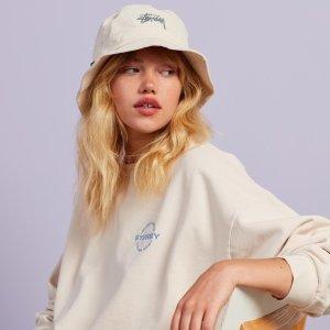 无门槛8折 渔夫帽$31Stussy 时尚新品闪促 卫衣、Polo衫 小羊羔棉衣 高颜值直接冲