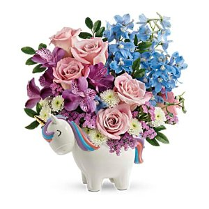 Teleflora's Enchanting Pastels Unicorn Bouquet