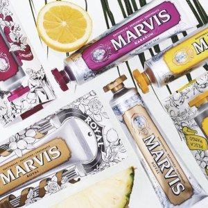 限时7折 单支牙膏¥43起Marvis 牙膏界爱马仕 必收茉莉、橙花款 唇齿留香秘密武器