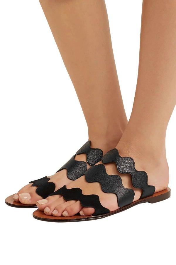 Lauren scalloped 花瓣平底鞋