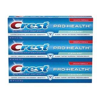 Crest Pro-Health Clean Mint Toothpaste, 4.6 oz TRIPLE