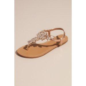 Davids BridalBuy 1 Get 1 50% OffJeweled T Strap Sandal