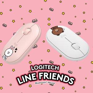 5折+包邮 套装仅€66.79Logitech × Line Friends 联名键盘鼠标 超萌可妮兔、布朗熊