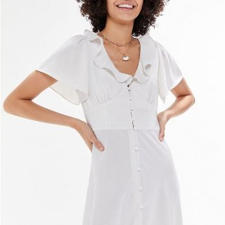 $19.99(Org.$79.00)Urban Outfitters Button-Front Ruffle Midi Dress