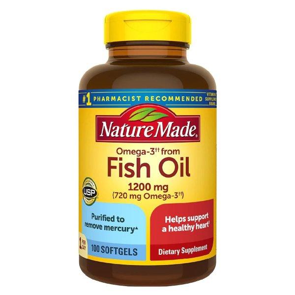 鱼油 1200 mg 100粒